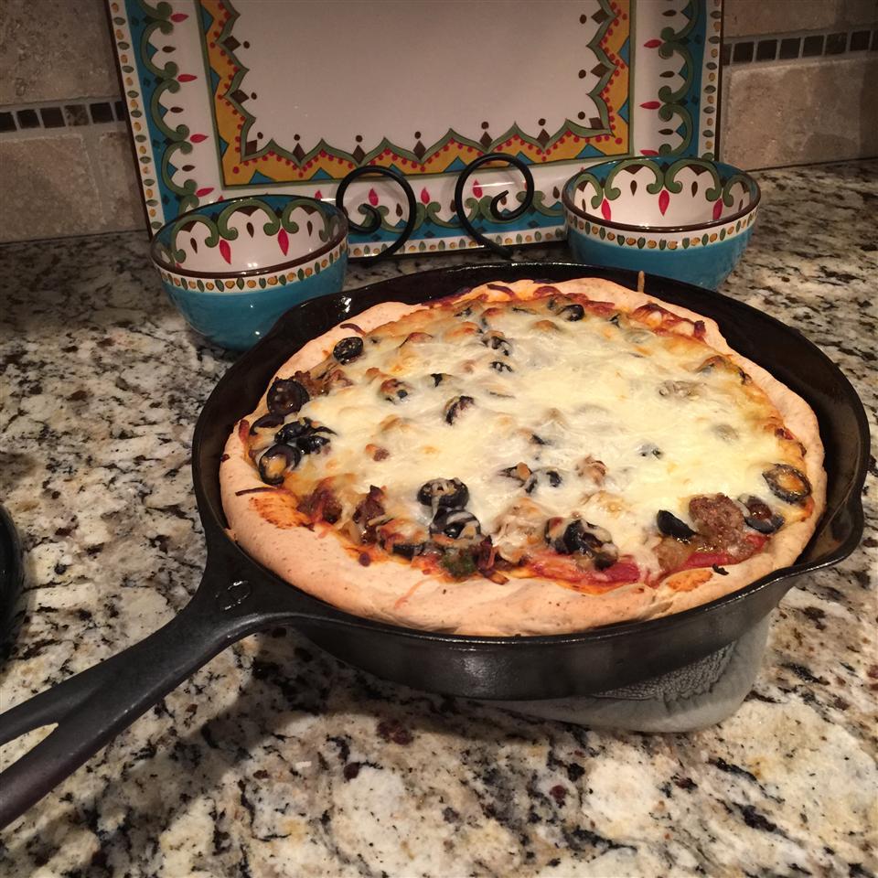 Deep-Dish Cast Iron Pizza