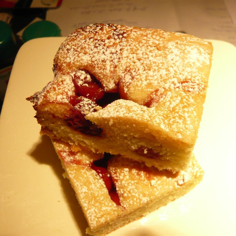 Cherry Glazed Sponge Cake Jan Mowbray