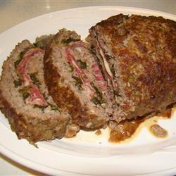 Da Beef Lover's Half Time Stuffed Meatloaf BamaGal