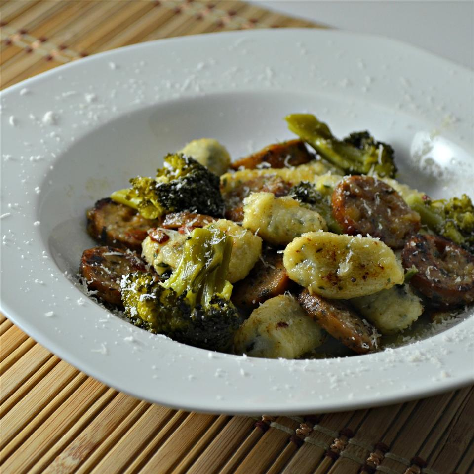 "Break out the skillet for this one. It's a quick, tasty way to turn prepared gnocchi into a meal. ""It's a light-tasting dish with mild flavors that is quick to prepare as long as you prep the gnocchi in advance,"" says Dave."