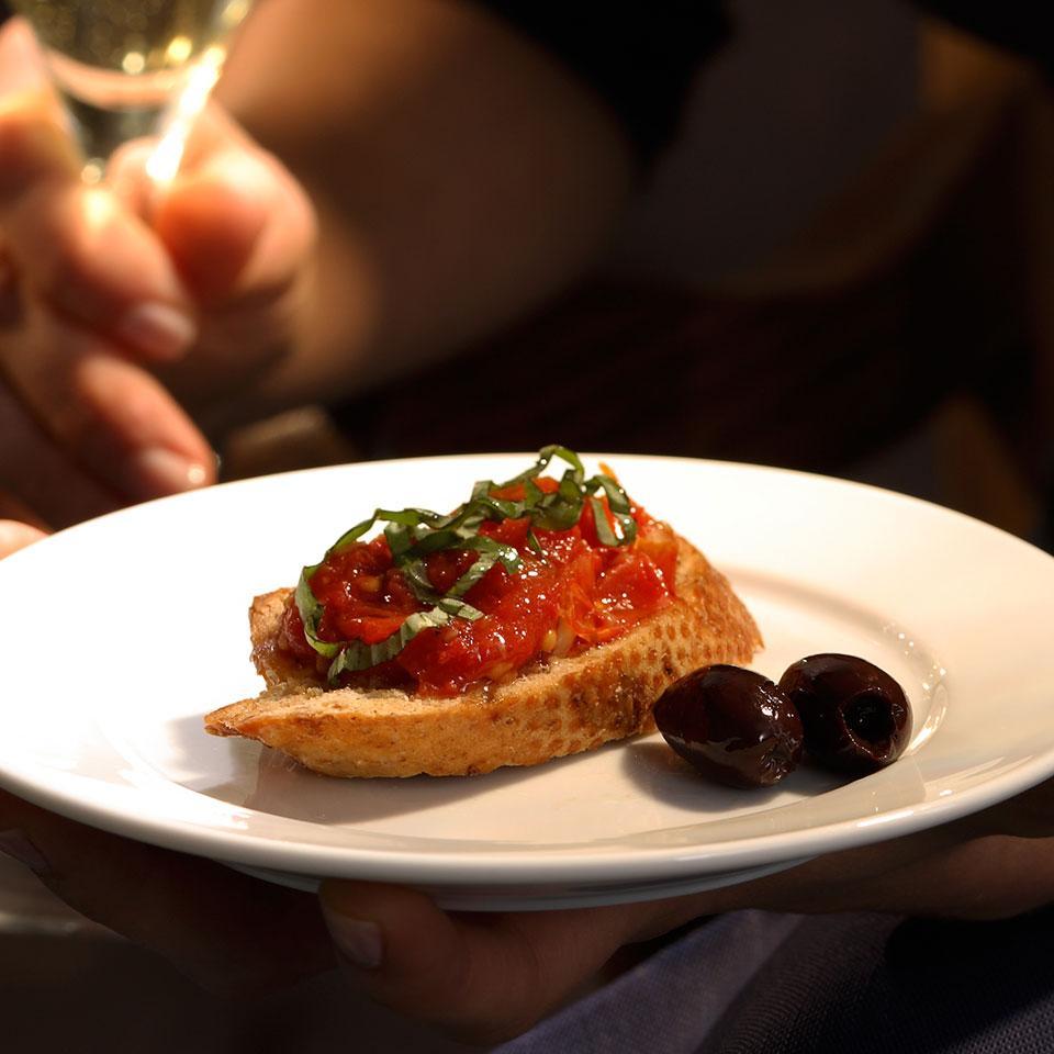 Slow-Roasted Cherry Tomato Bruschetta EatingWell Test Kitchen