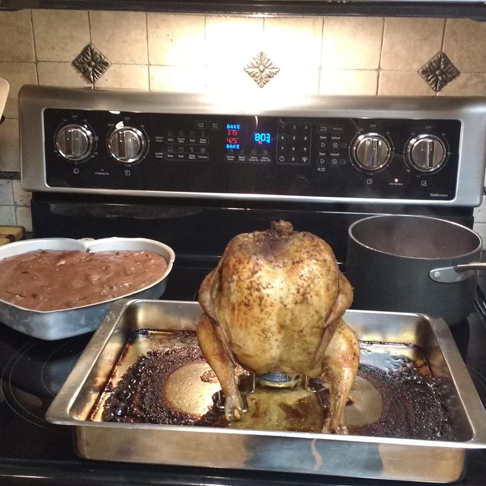 Peruvian Style Beer Can Chicken