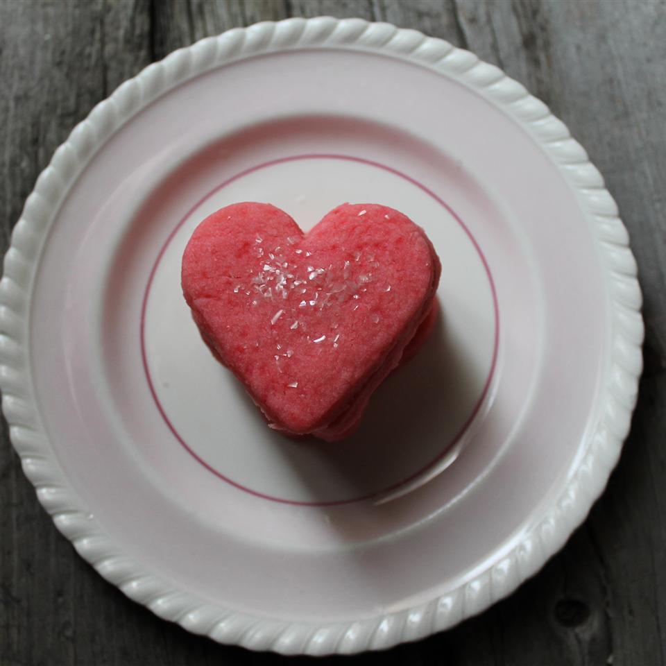 Valentine's Slice-and-Bake Cinnamon Heart Shortbread Cookies Jody