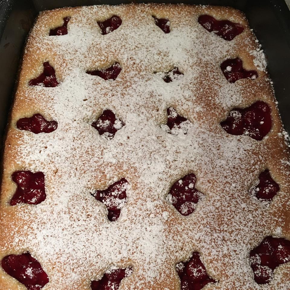 Cherry Glazed Sponge Cake JANN
