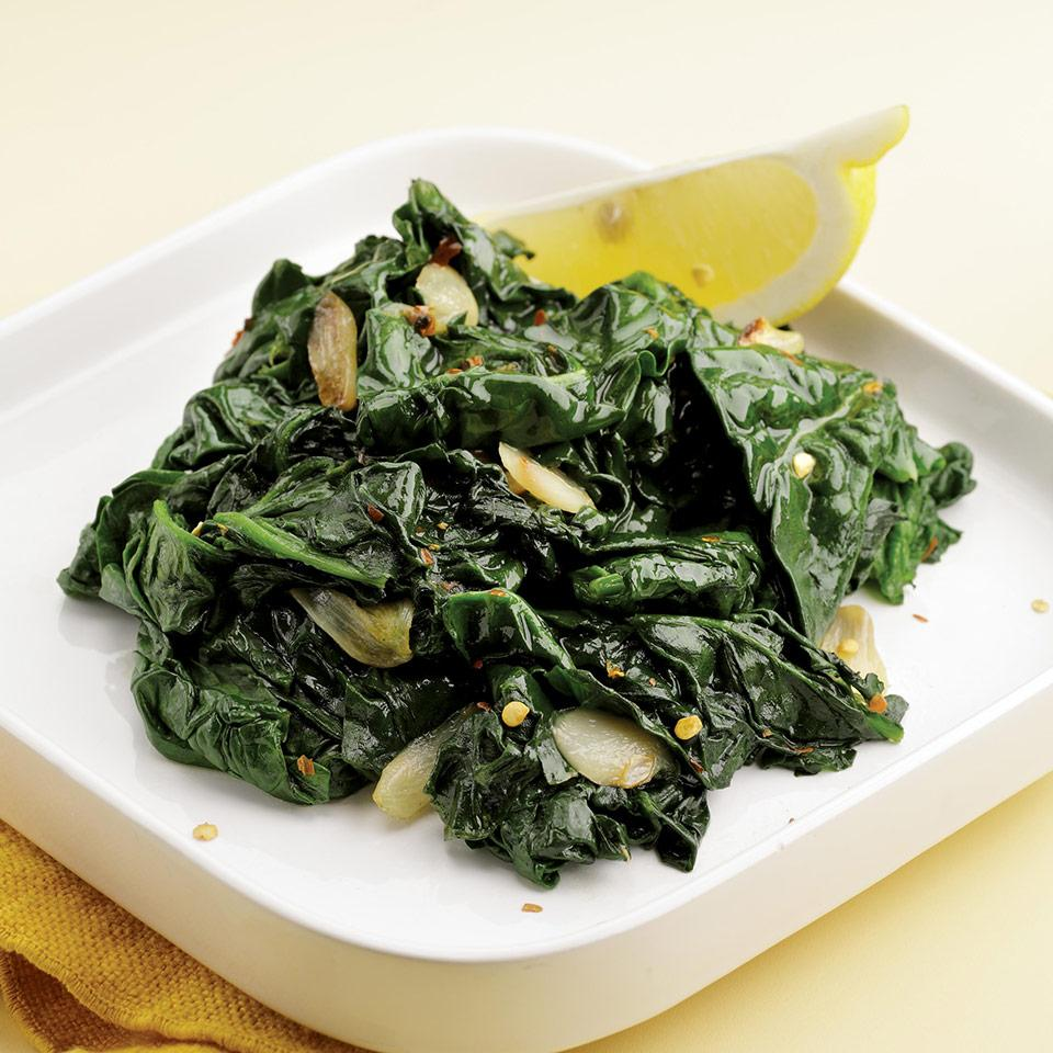 Simple Sautéed Spinach EatingWell Test Kitchen