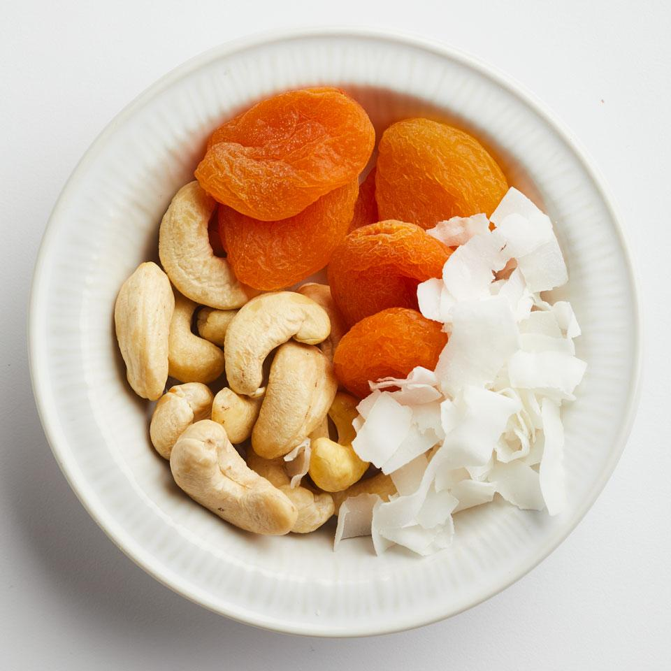 With 4 grams of protein and 4 grams of fiber, this healthy packable snack can help you feel full until your next meal.Source: EatingWell Magazine, March/April 2017