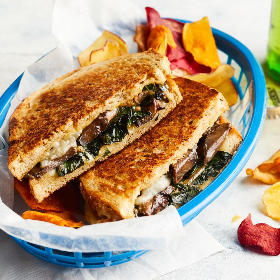 Collards & Portobello Grilled Cheese Carolyn Malcoun