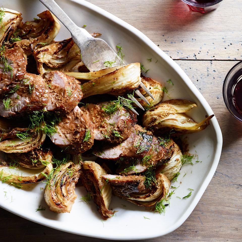 Fennel Pollen & Balsamic-Glazed Pork Tenderloin with Braised Fennel EatingWell Test Kitchen