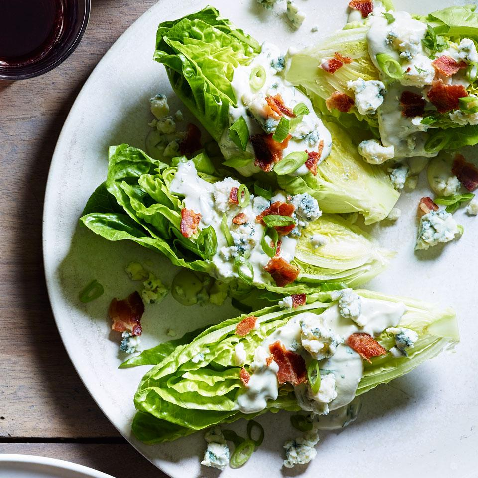 Little Gem Wedge Salad with Blue Cheese & Herb Dressing