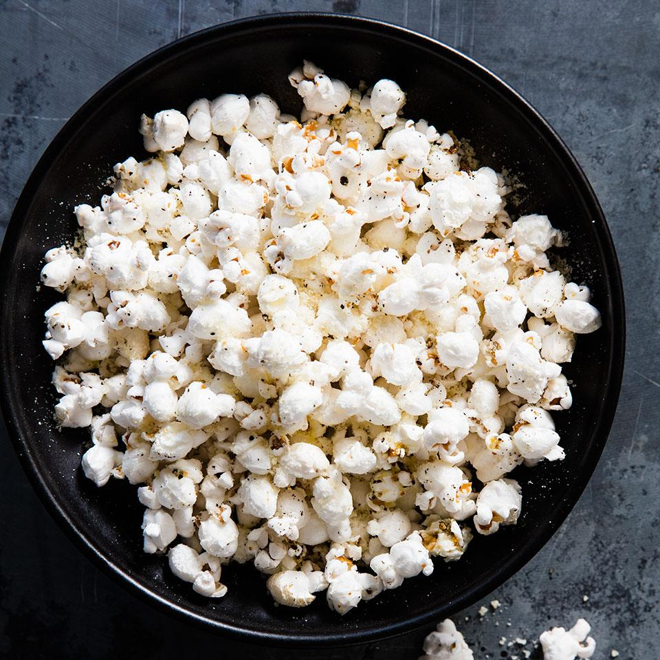 Lemon-Parm Popcorn EatingWell Test Kitchen