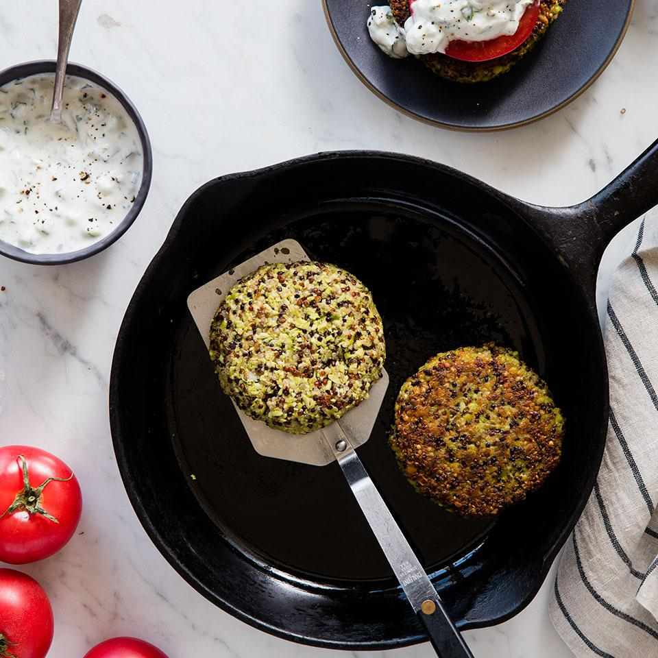 Indian Edamame Quinoa Burgers EatingWell Test Kitchen