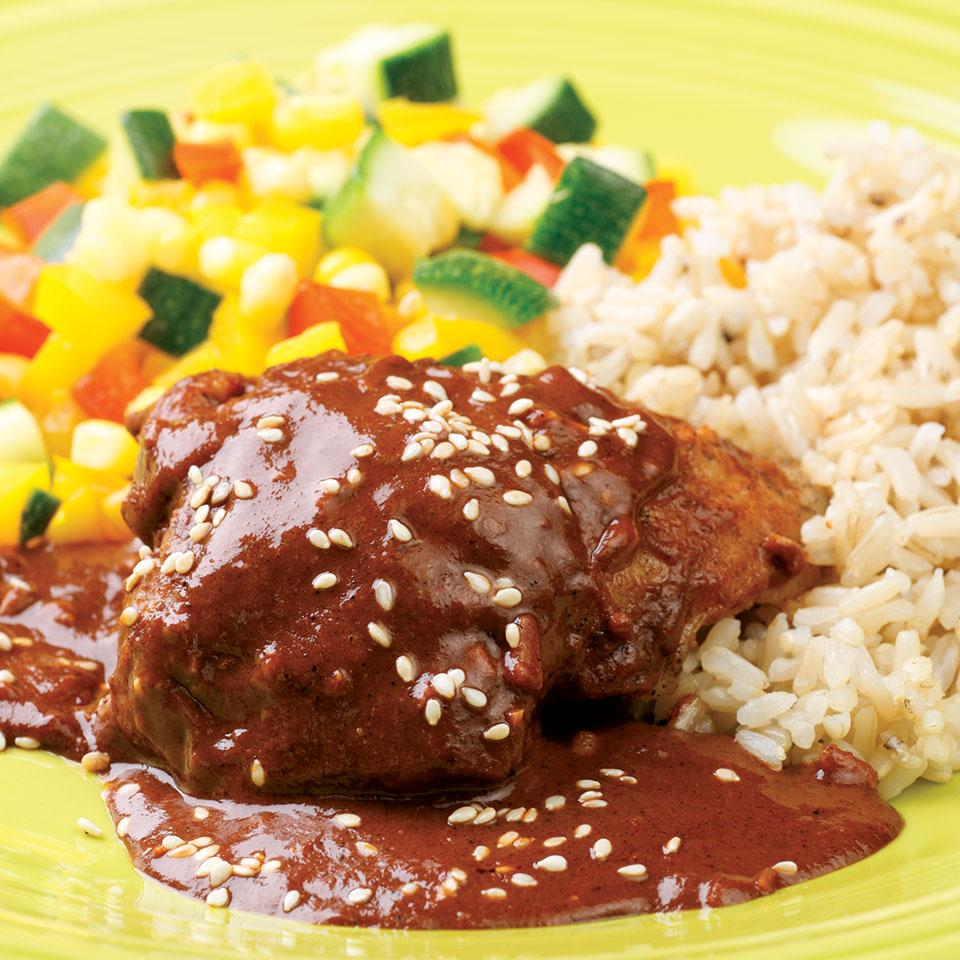 Chicken with Quick Mole Sauce EatingWell Test Kitchen