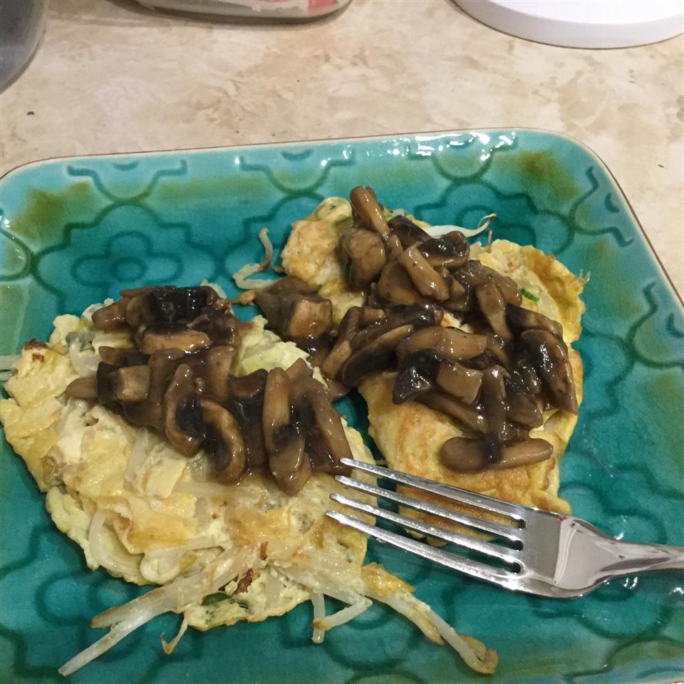 Egg Foo Yung with Mushroom Sauce