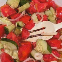 Chrissy's Sweet 'n' Sour Tomato Salad