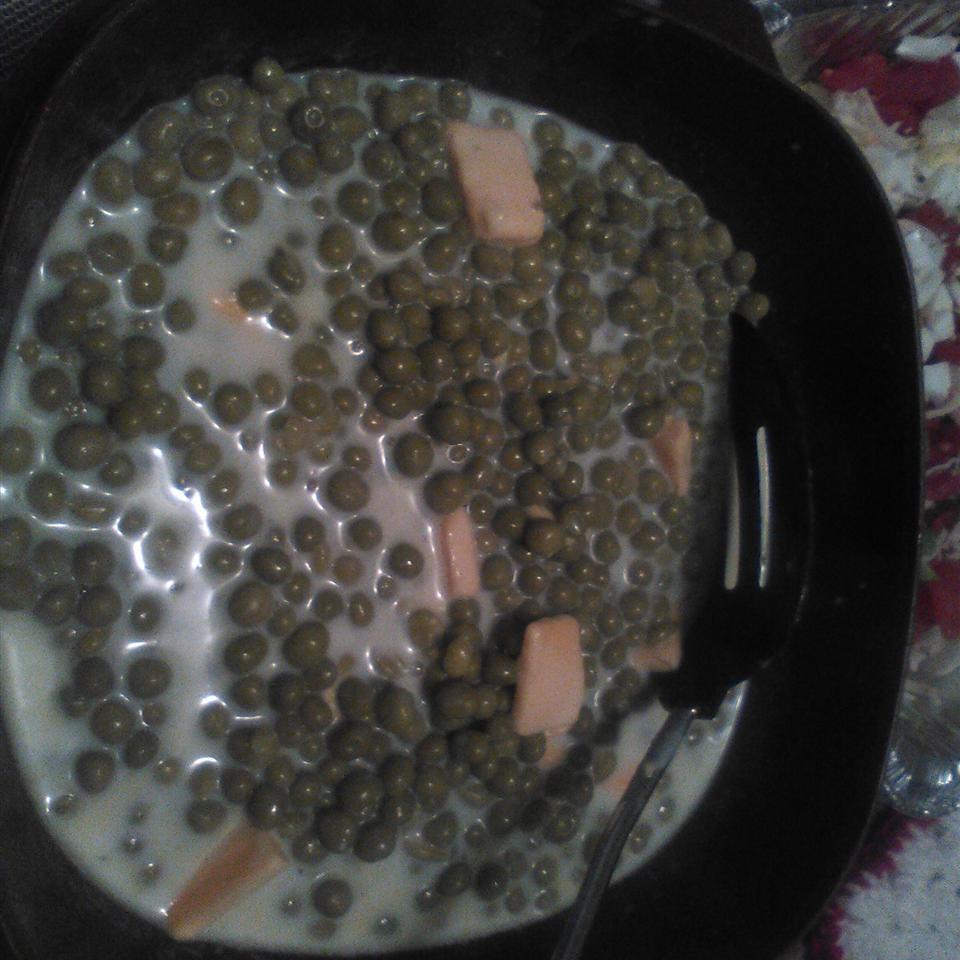 Delicious Creamed Peas Jerri Lee Miller