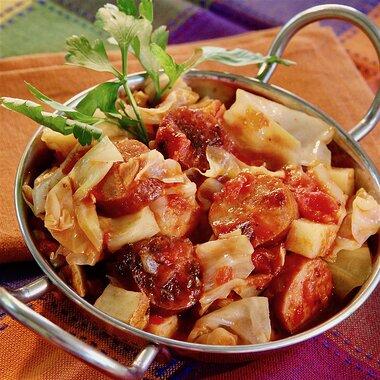 big rays kielbasa cabbage skillet for a crowd recipe