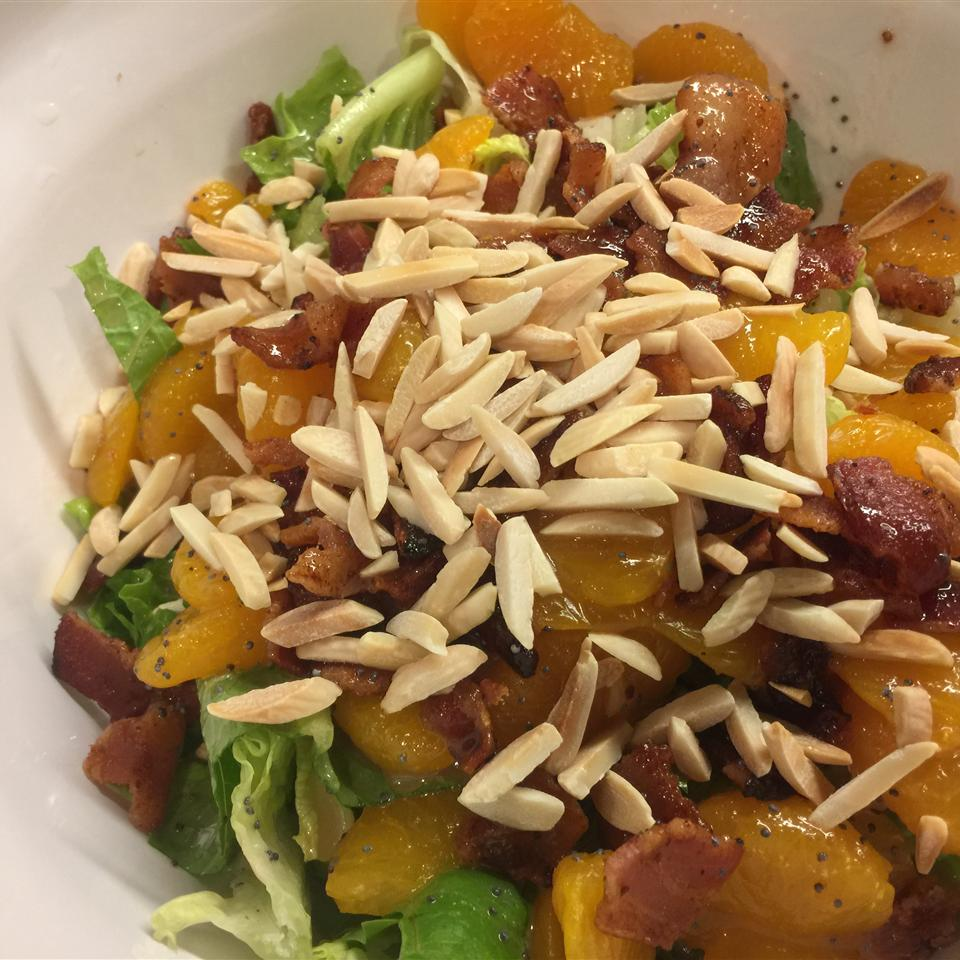 Romaine and Mandarin Orange Salad with Poppy Seed Dressing Amy Lawler
