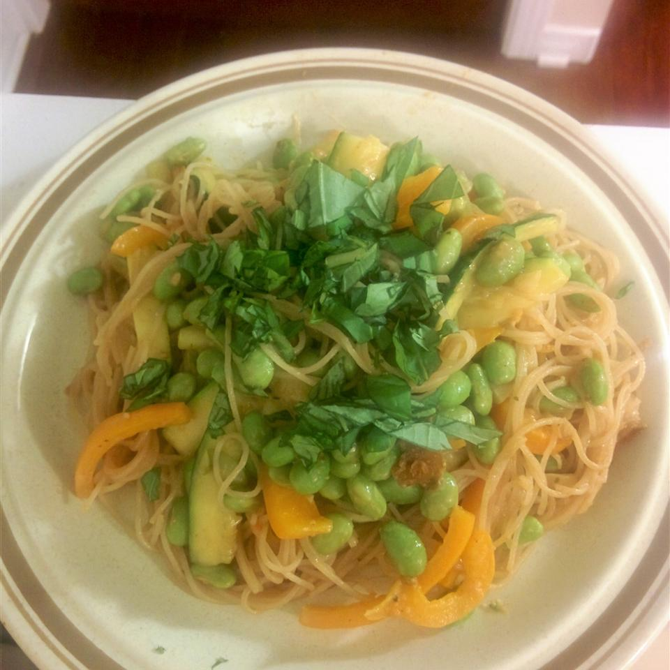 One Pot Thai-Style Rice Noodles ashley_mcsmiley