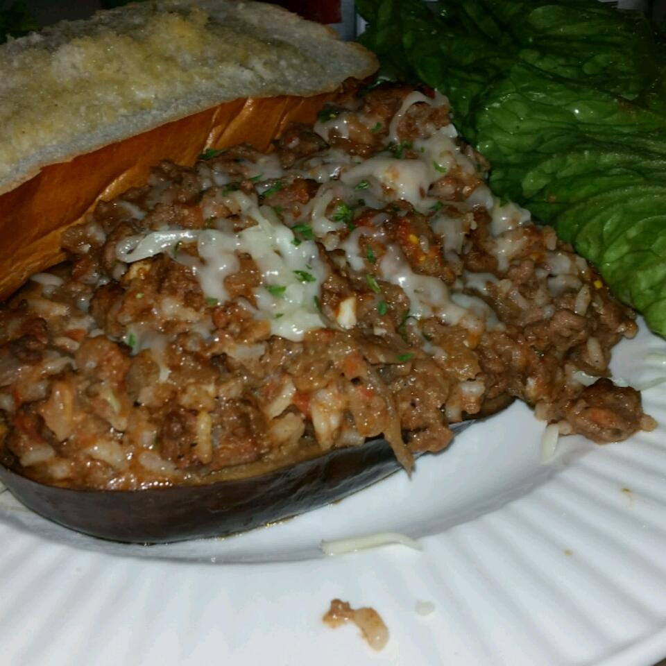 Baked Eggplant with Ground Beef Cassandre