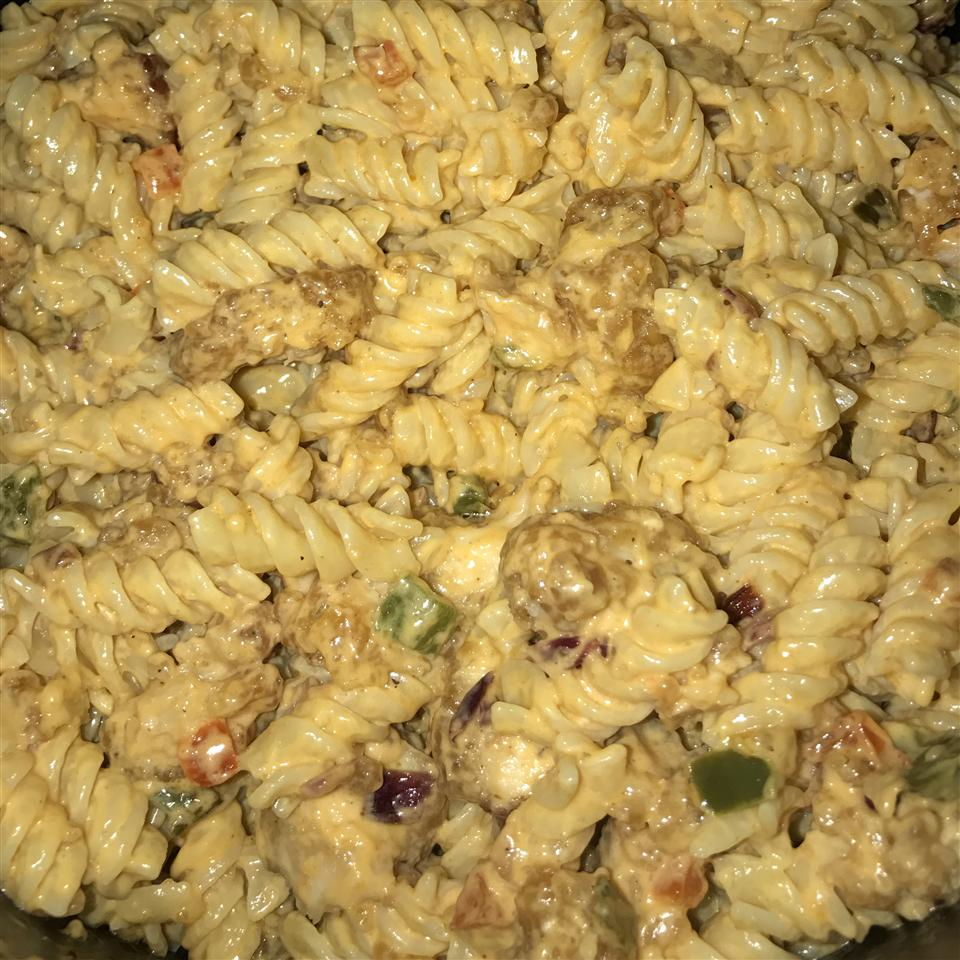 Buffalo Chicken Pasta Salad kea