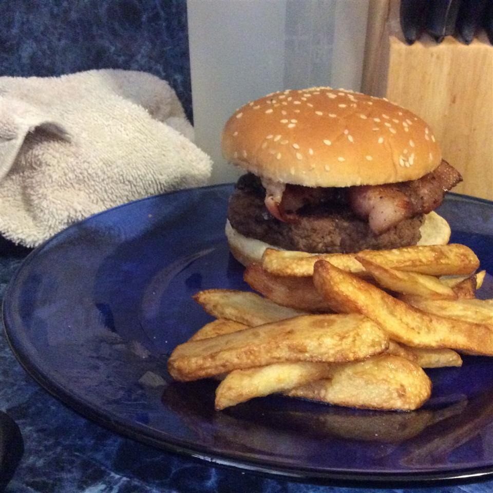 Gourmet Bacon, Onion, and Mushroom Burgers Jon Anthony