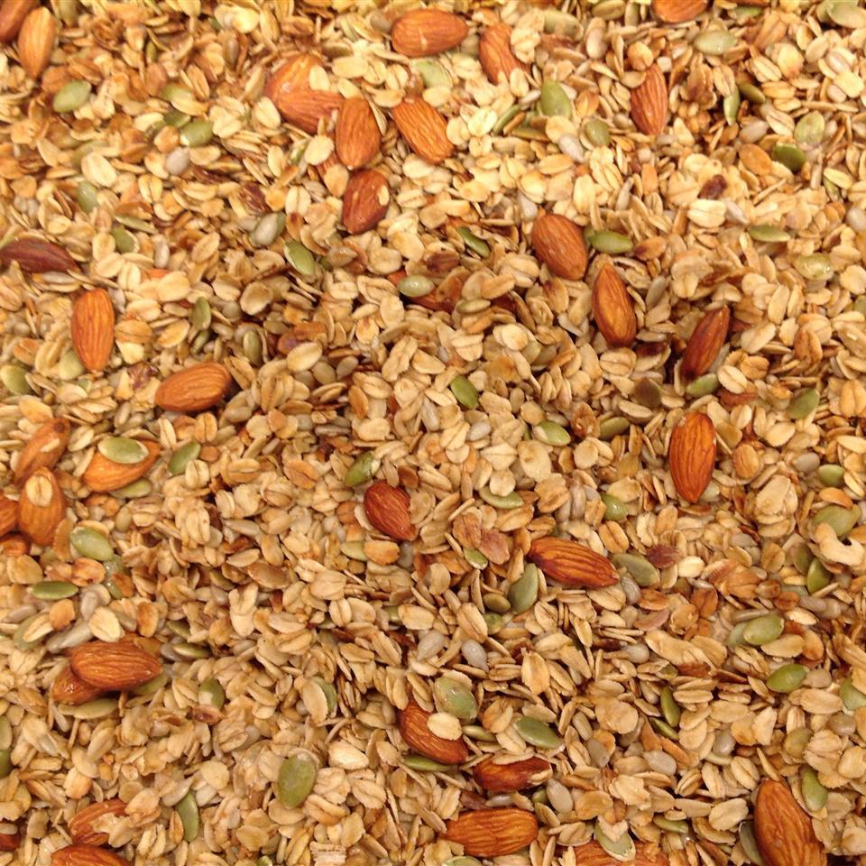 Honey-Almond Seeded Granola XmasMommy