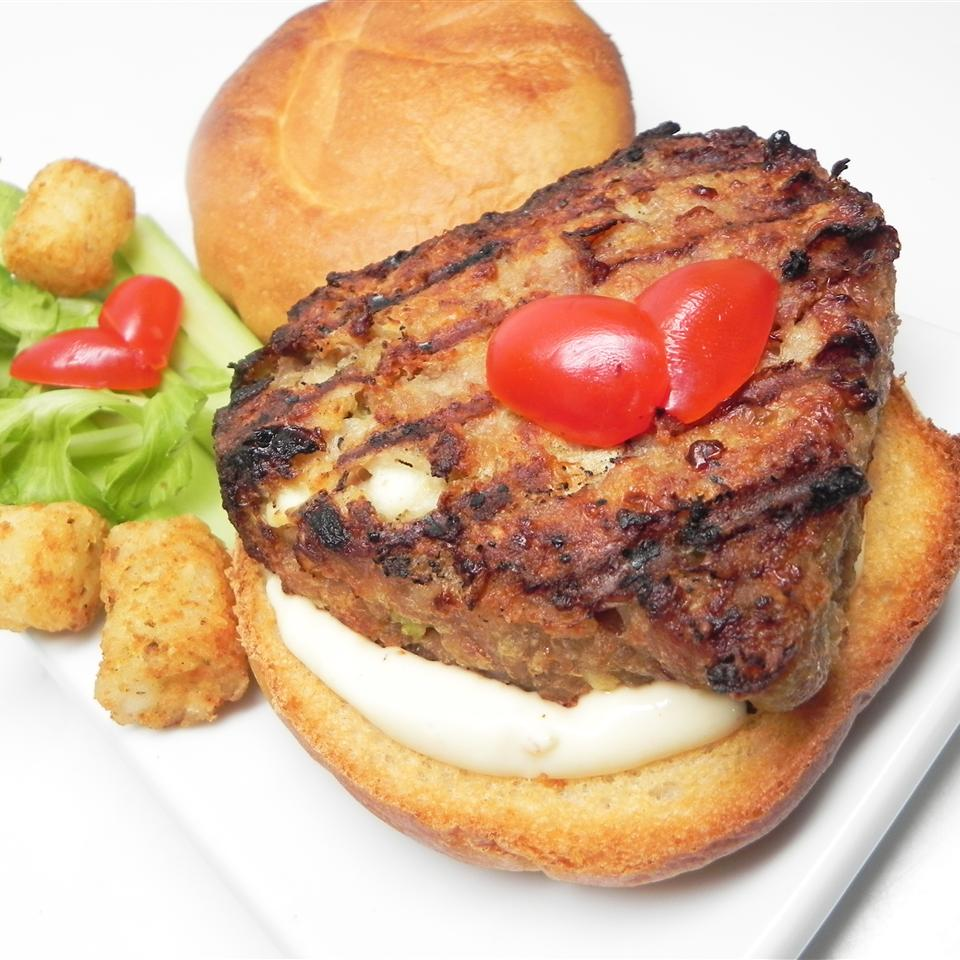 Chicken Burgers with Blue Cheese
