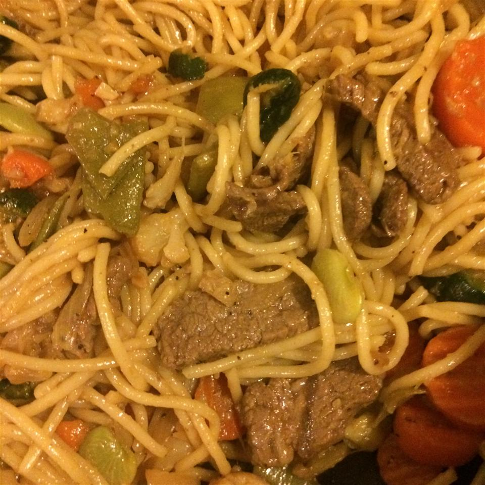 Stir Fried Pasta with Veggies Karen Garcia