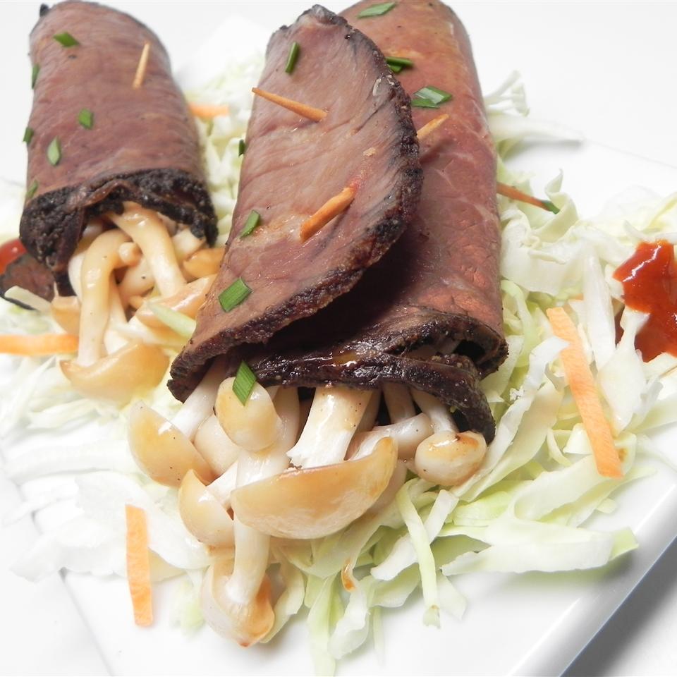 Beef-Wrapped Enoki Mushroom