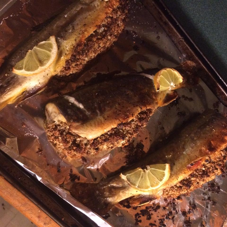 Oven Roasted Trout with Lemon Dill Stuffing Natalie Hogg