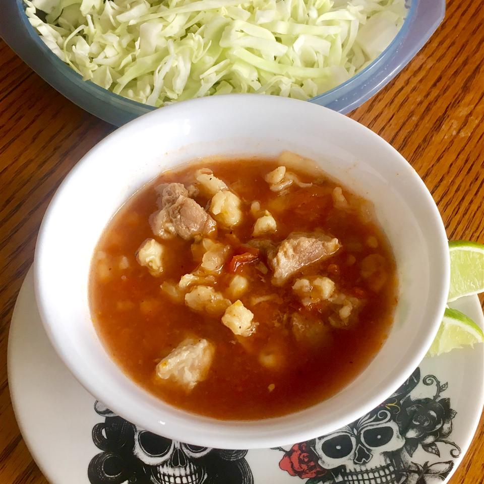 Pozole Rojo (Mexican Pork and Hominy Stew) Yoly