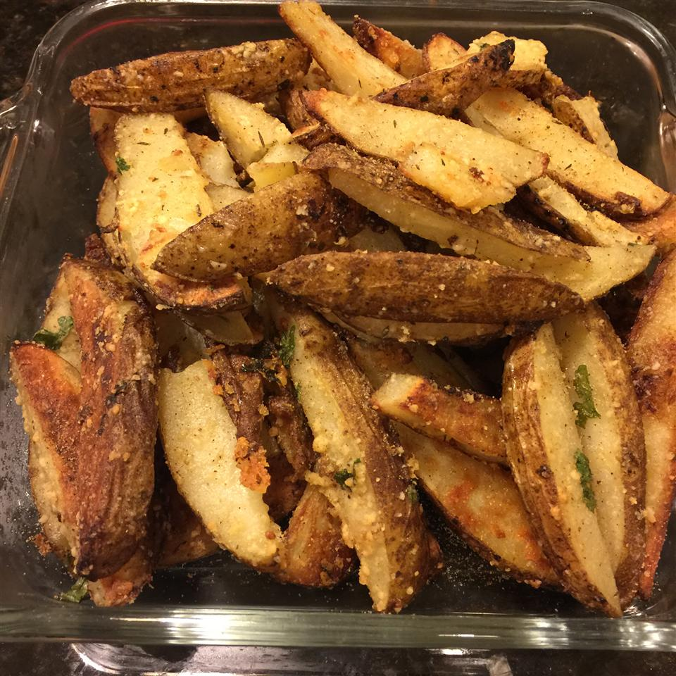 Oven Baked Garlic and Parmesan Fries Cindy Sawyer Bramblett