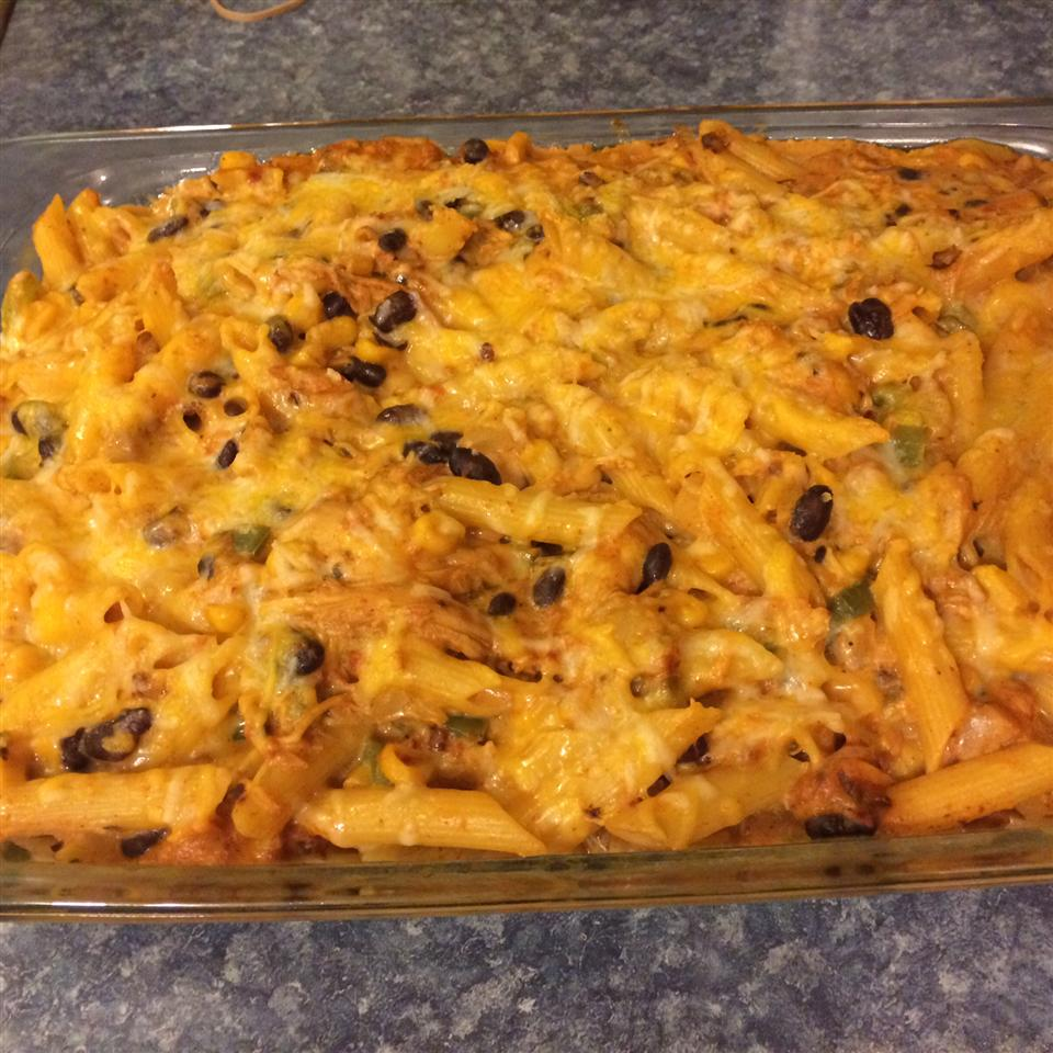 Chicken Fajita Pasta Bake