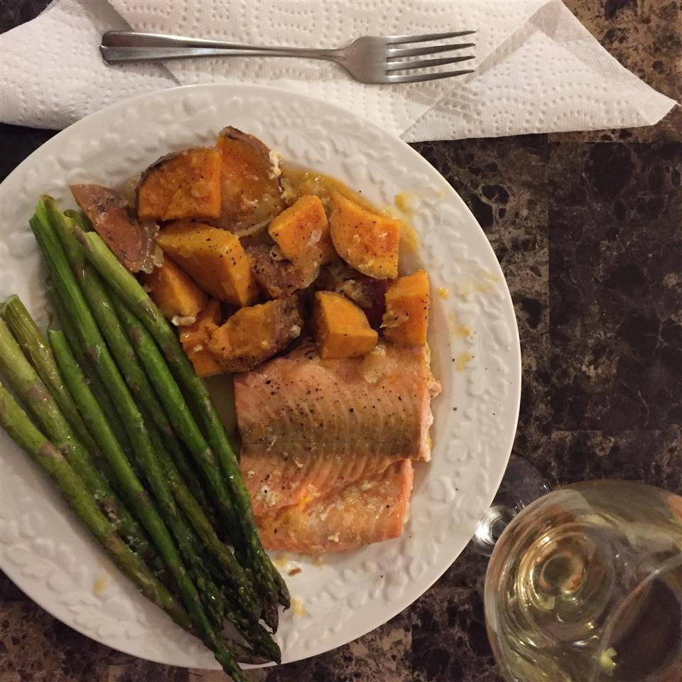 Salmon With Scalloped Sweet Potatoes USA WEEKEND columnist Jean Carper