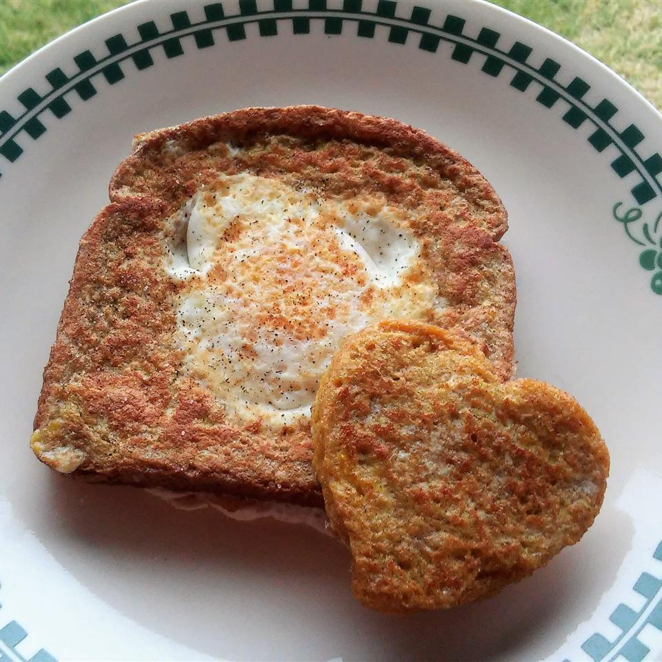 French Toast Variation of Eggs in a Basket