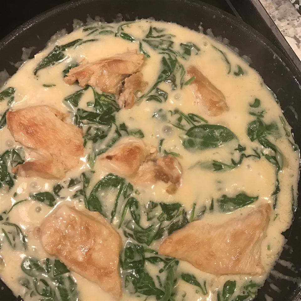 Lemon Chicken Scallopini with Spinach Stacy