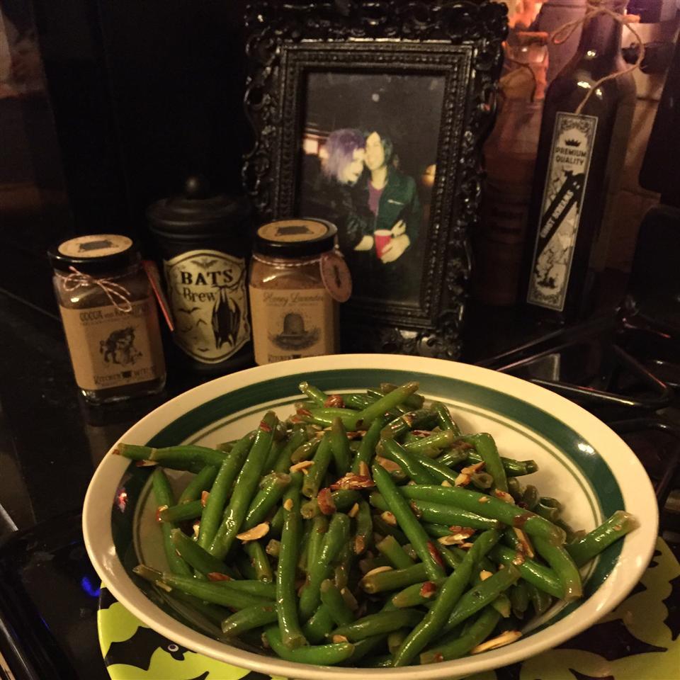 Toasted Almond Green Bean Salad Allison Eckfeldt