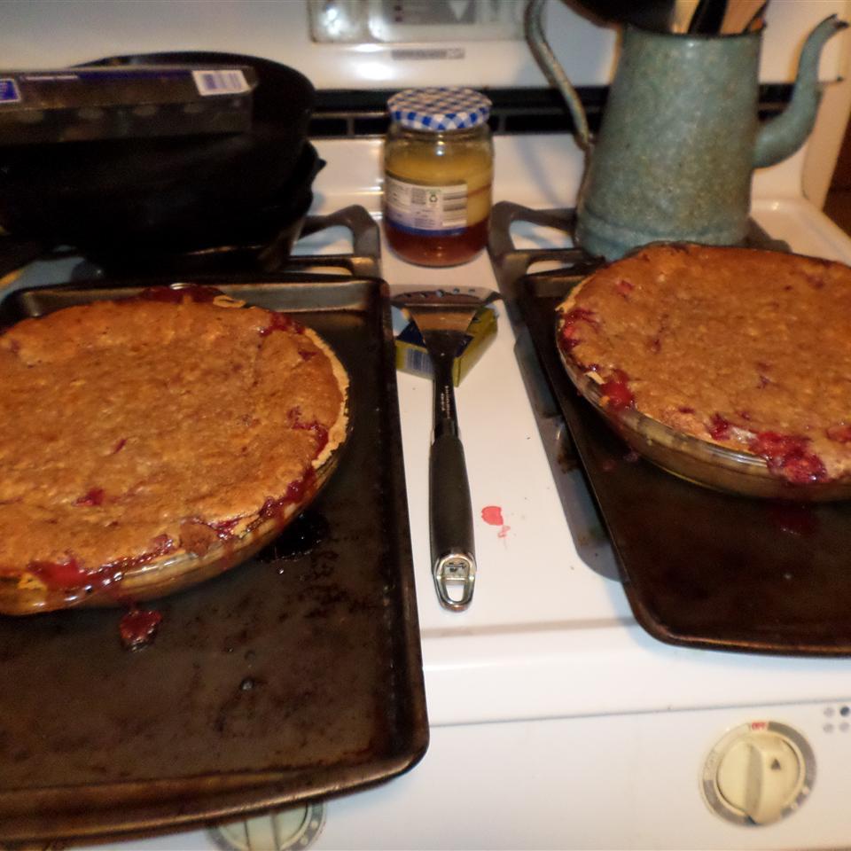 Strawberry Brown Sugar Sour Cream Pie Daniel J Felder
