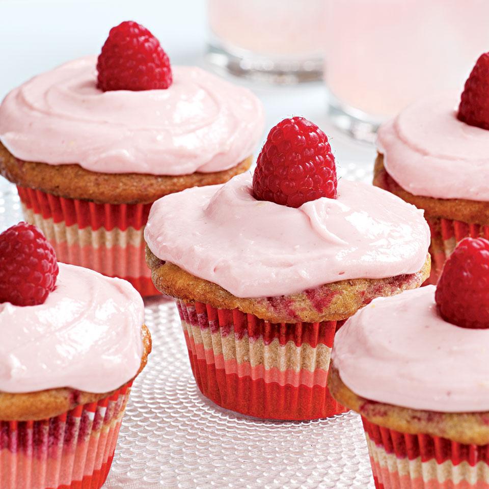Raspberry-Swirl Cupcakes Stacy Fraser