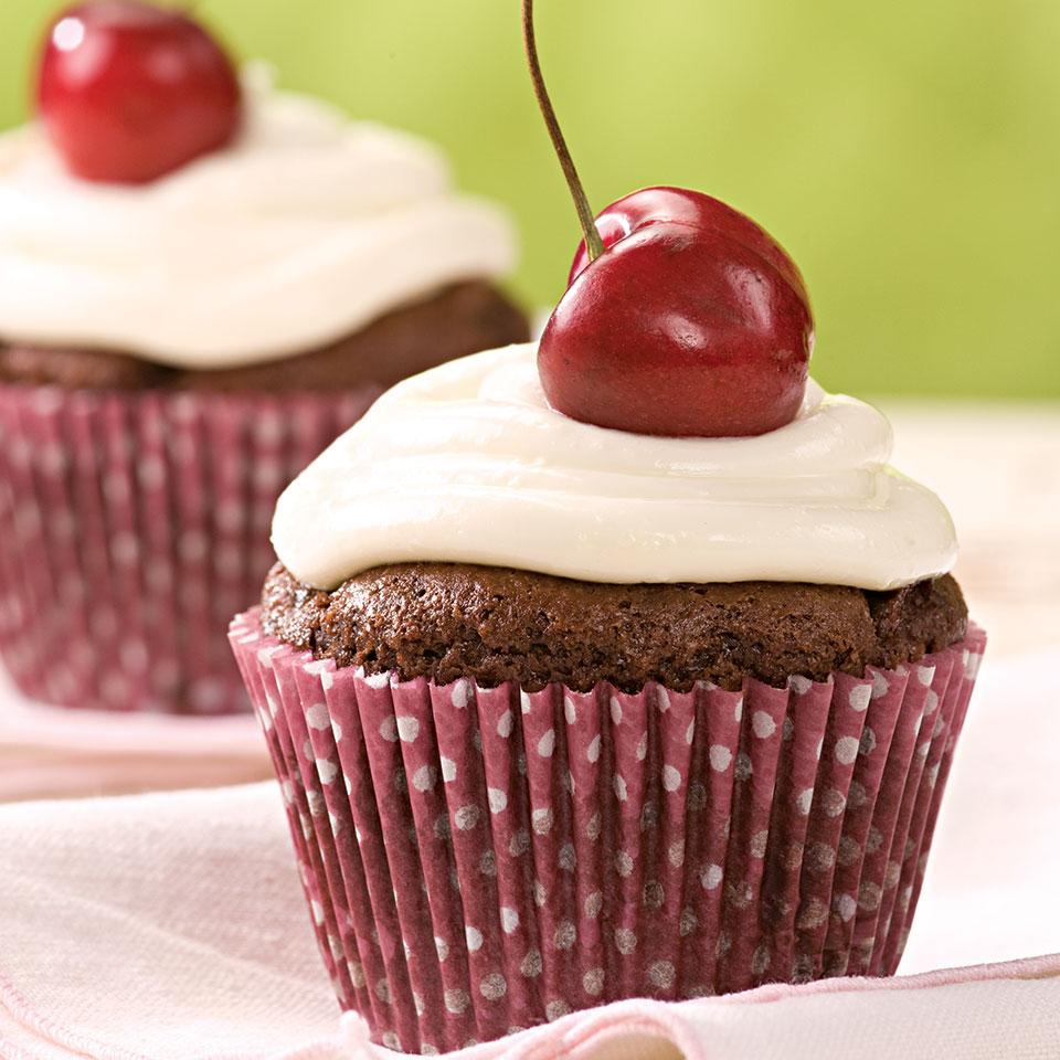 Chocolate-Cherry Cupcakes Stacy Fraser