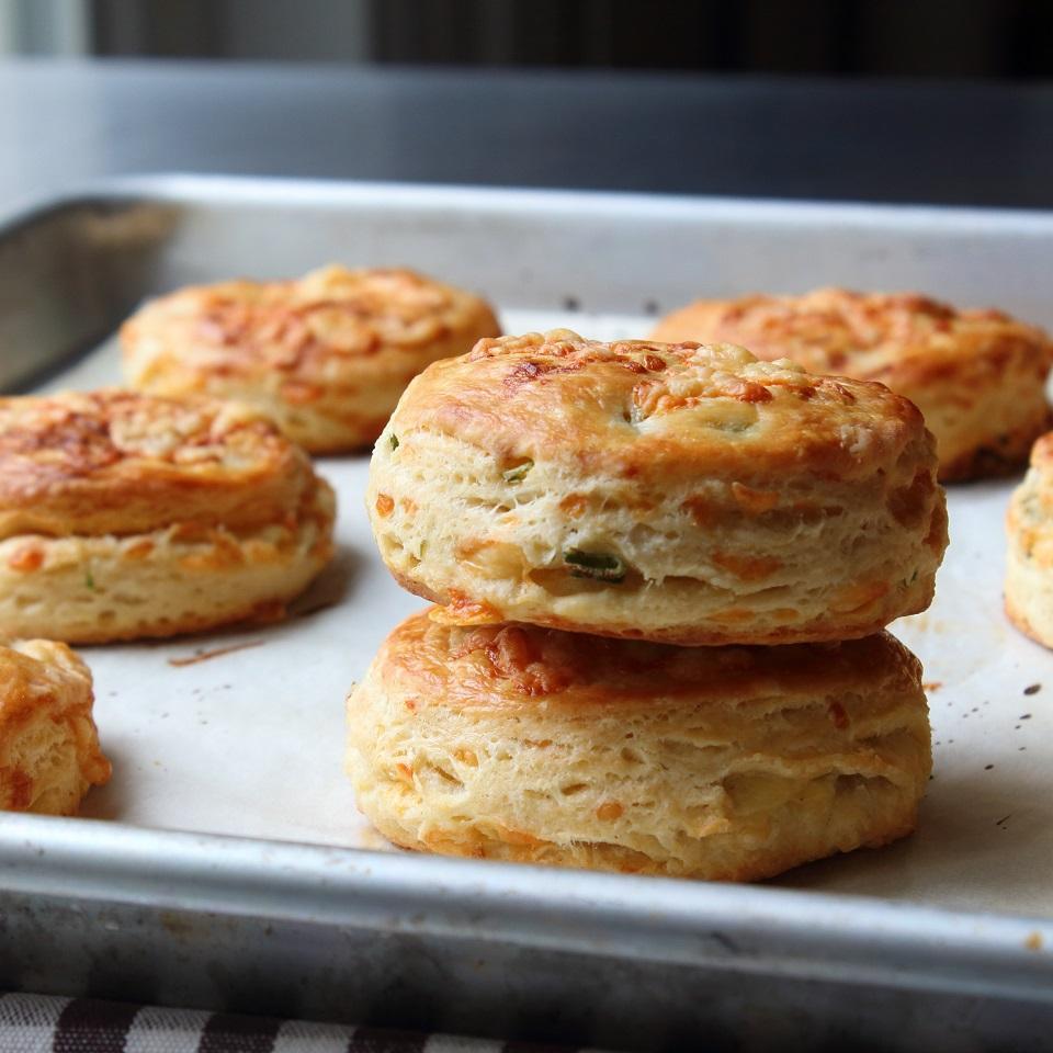 Irish Cheddar Spring Onion Biscuits Chef John