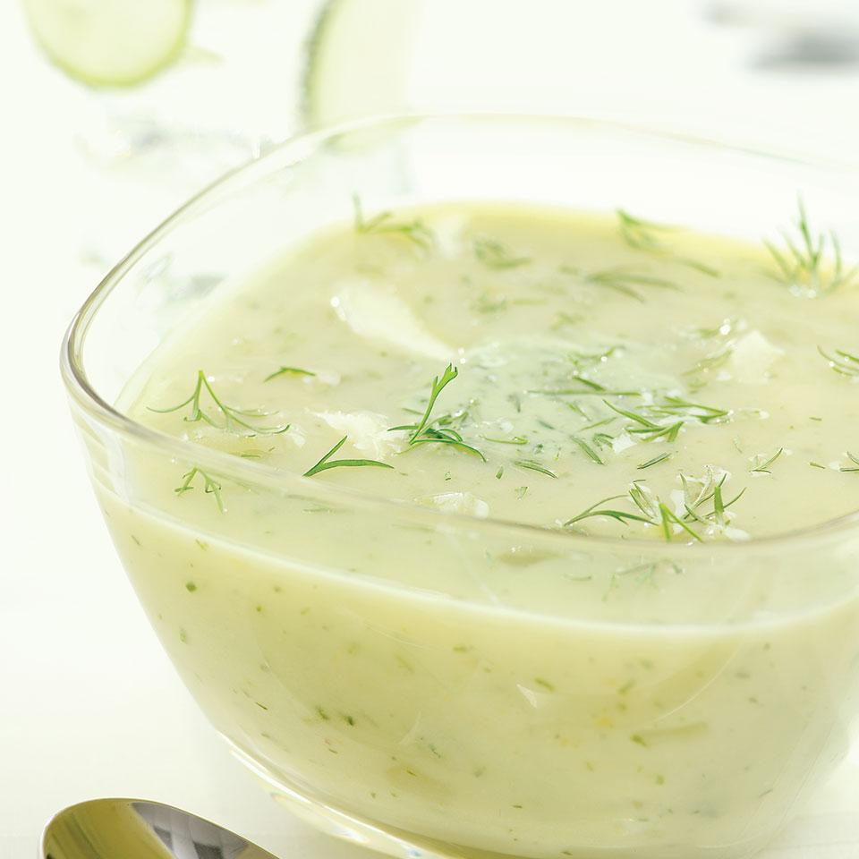 Chilly Dilly Cucumber Soup EatingWell Test Kitchen