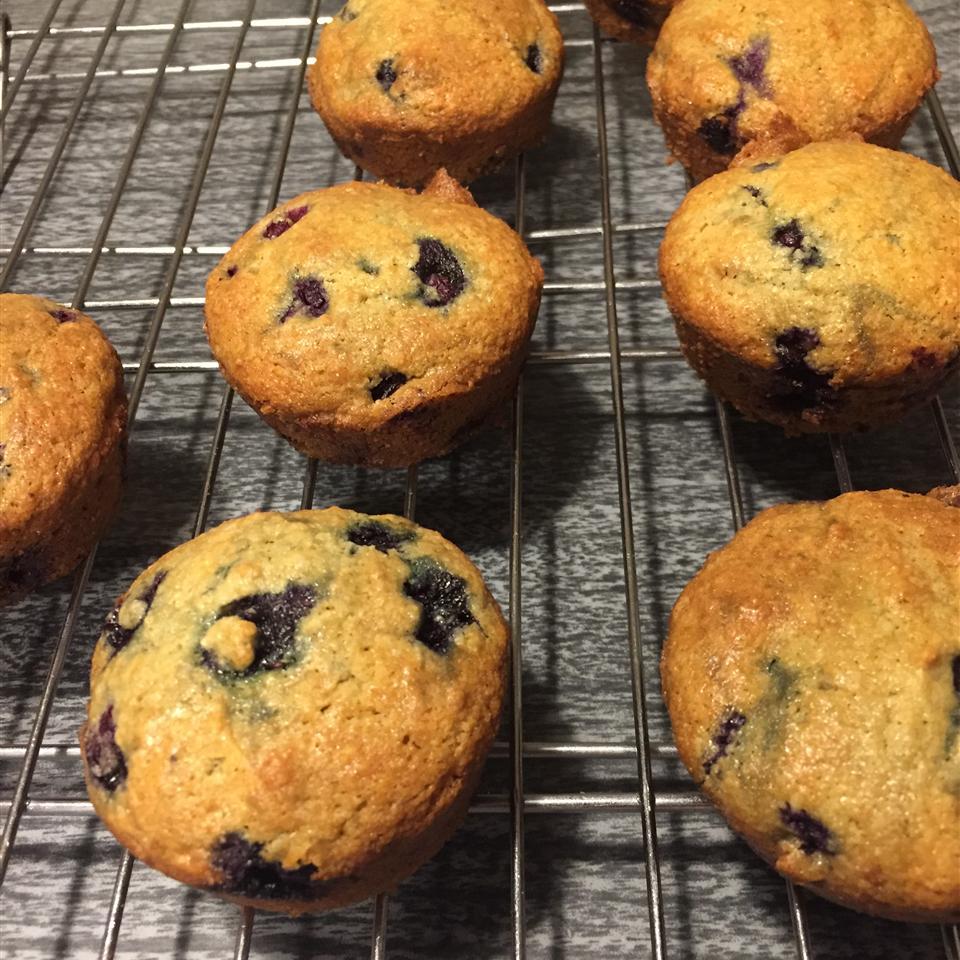 Paleo Blueberry Lemon Muffins