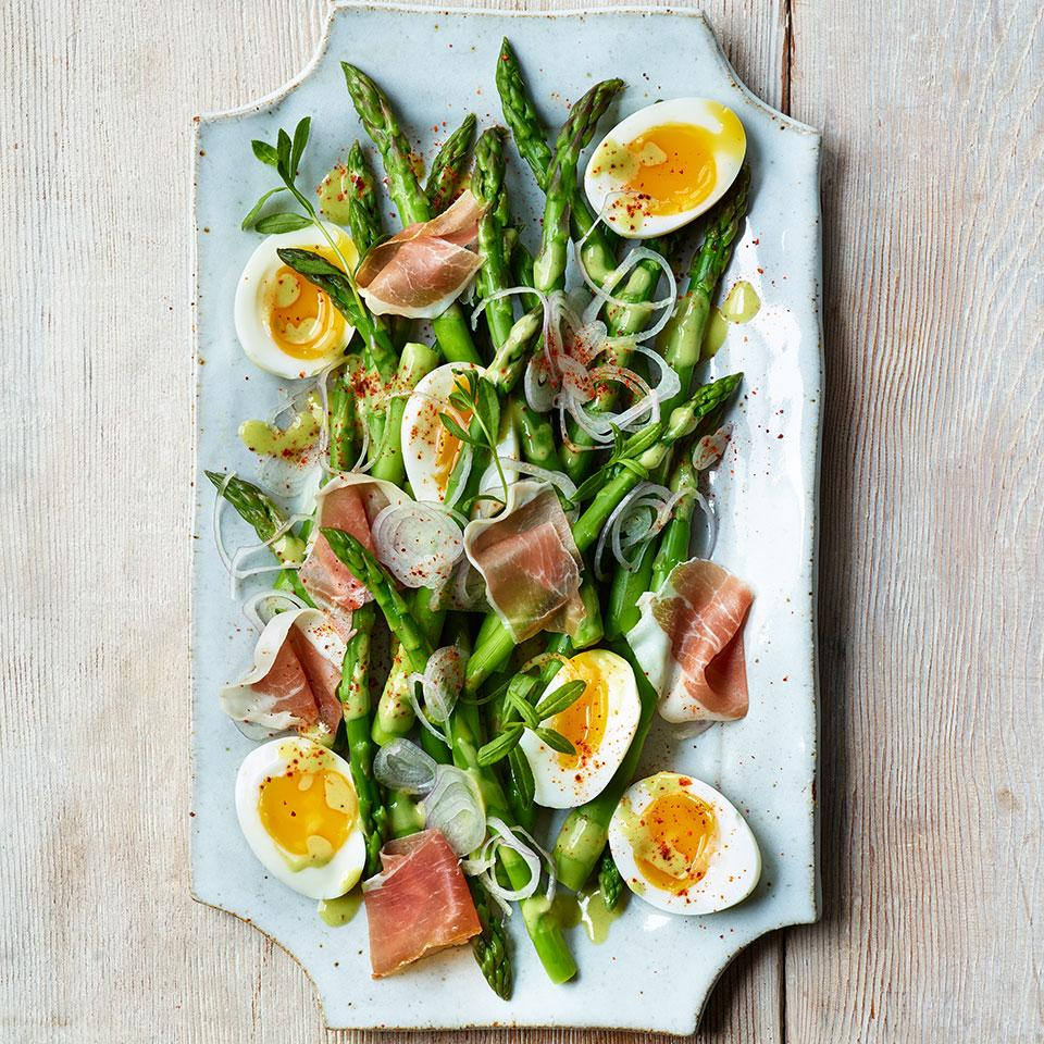 Asparagus Salad with Eggs & Jambon de Bayonne Trusted Brands