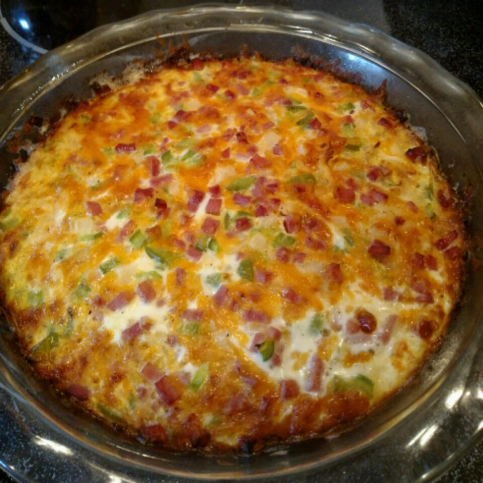 Ham and Hash Brown Quiche Sheila M. Crebbs