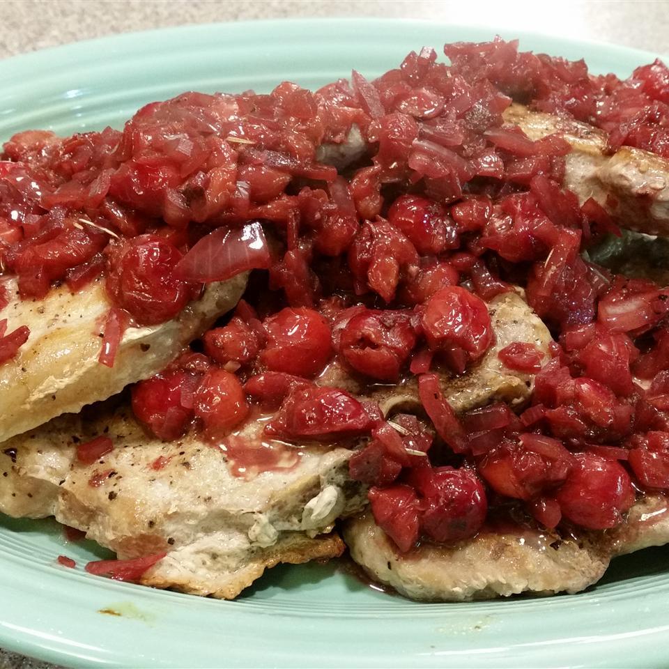 Pork Chops With Black Cherry Sauce Lisa Finch