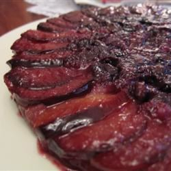 Plum Blueberry Upside Down Cake