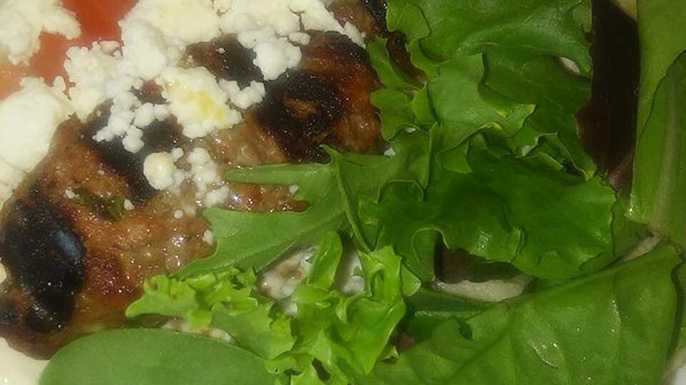 Mediterranean Lamb Meatball Sandwiches with Yogurt Sauce