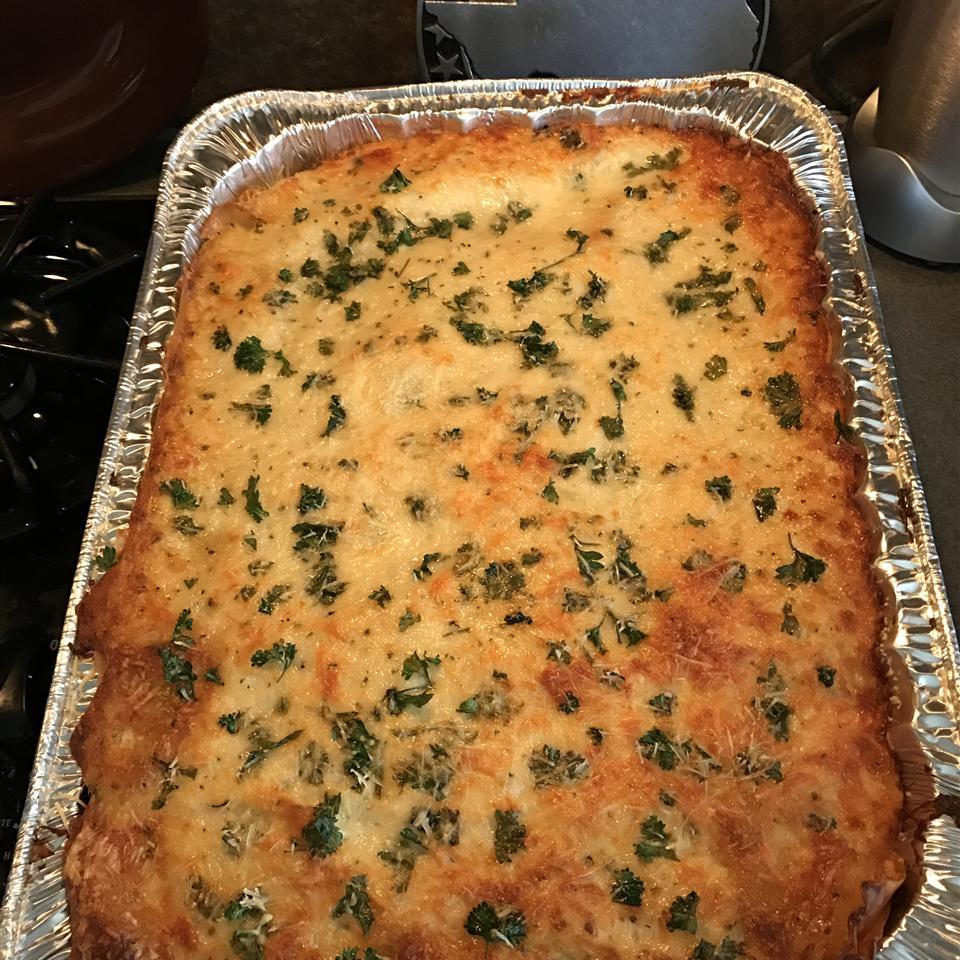 White Cheese Chicken Lasagna kathie