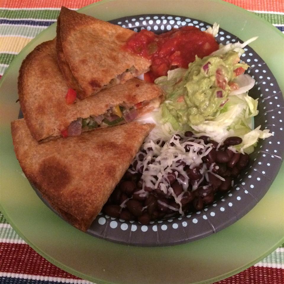 Farmer's Market Vegetarian Quesadillas
